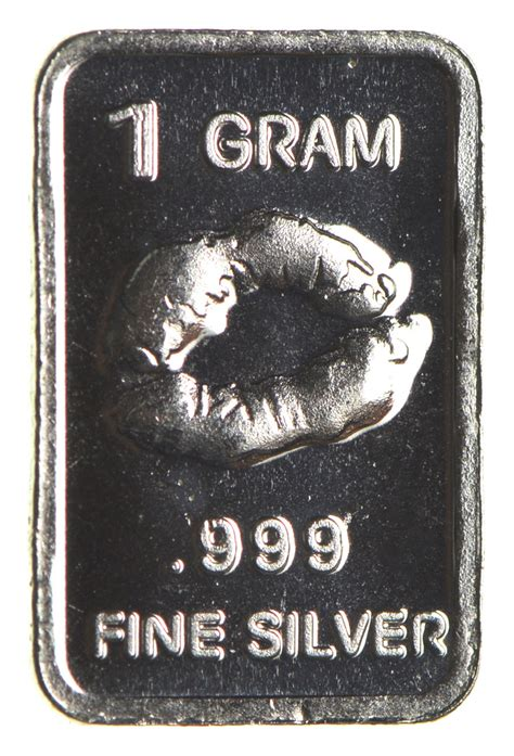 1 Gram 999 Silver Bar by Kissy 1 Gram 999 Silver Custom Designed