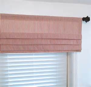 mock shade valance faux shade lined mock valance ticking stripe custom