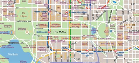 map of dc monuments national mall map in washington d c wheretraveler