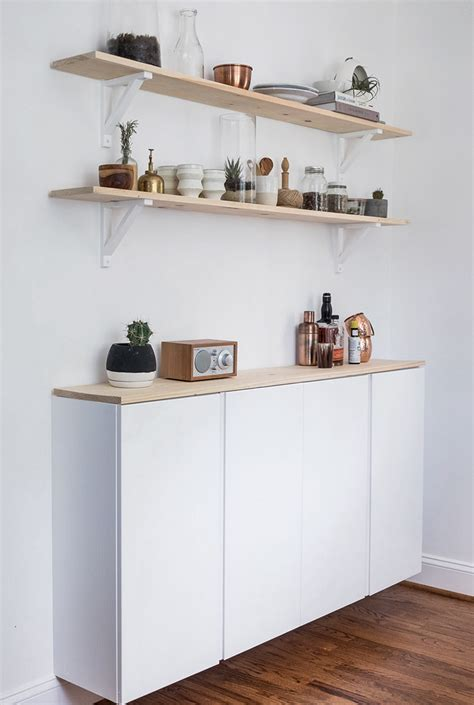 Ikea Kitchen Cabinet Shelves Ivar Hack One Cabinet Five Looks Stylizimo
