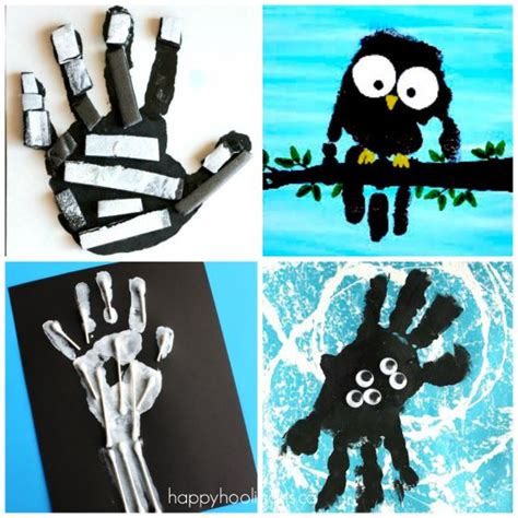 halloween printmaking project art for kids and robots 19 easy and adorable handprint crafts for fall happy