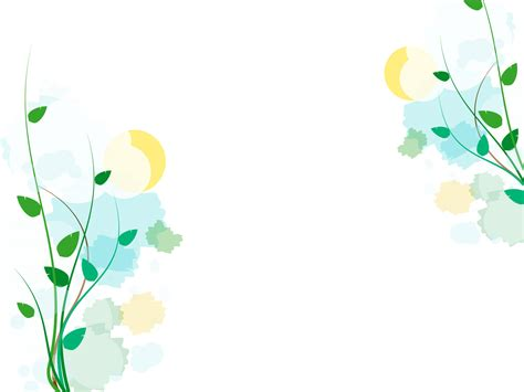 abstract floral springs backgrounds presnetation ppt