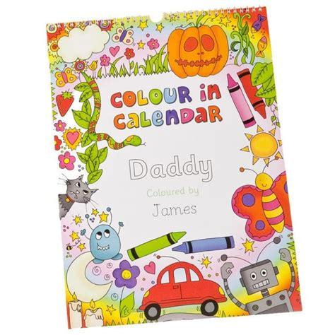 Find Me A Calendar Childrens Colour Me In Personalised Calendar Find Me A Gift