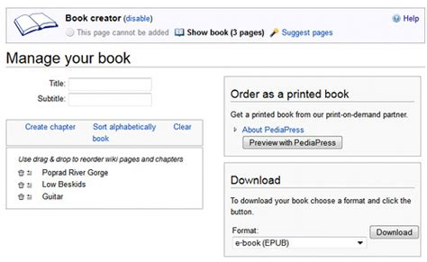 ebook format wiki new epub ebook export feature added to wikipedia articles