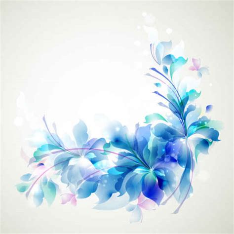 elegant blue background design with fancy seal flower shapes in elegant blue flower background free vector 365psd com