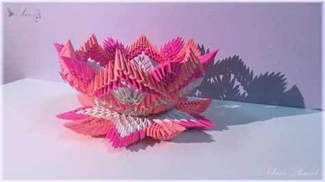 3d Origami Sunflower - how to make 3d origami sunflower part2 versi on the spot