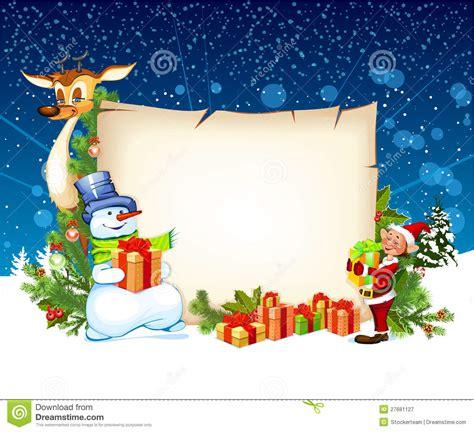 christmas card  snowman reindeer   elf royalty