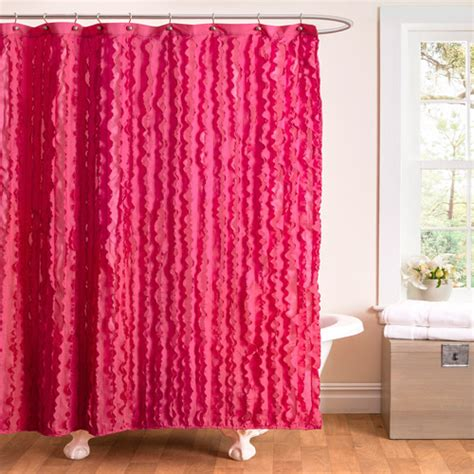 walmart pink curtains essential living modern chic pink shower curtain walmart com