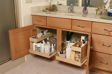 bathroom vanity slide out shelves bathroom the pull out shelf company
