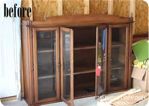Repurpose Dining Room Hutch Two Toned Bookcase From A Dining Room Hutch The Homes
