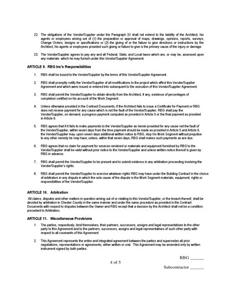 sle supplier agreement template supplier agreement template 28 images 10 vendor