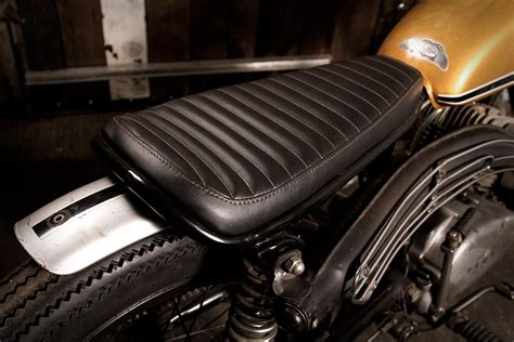 Mc Upholstery by How To Cover A Motorcycle Seat With Leather Kmishn