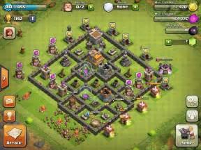 Level 7 7 defensive base design town hall level 7 3 defensive base