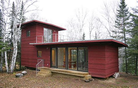 modern prefab homes mn northwoods weehouse unique and modern prefab house now