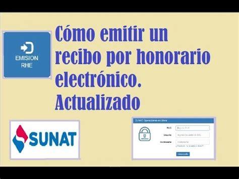 como imprimir un recibo electronico como emitir un recibo por honorario electronico sunat