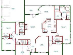 Best One Story House Plans by Twin Bedroom Single Story 5 Bedroom House Floor Plans I