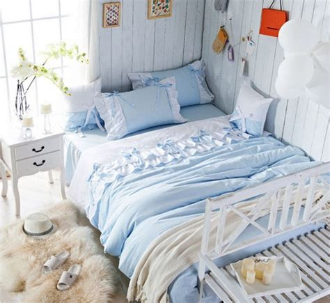 ice blue comforter set ice blue princess bedding set girl lace ruffle full queen