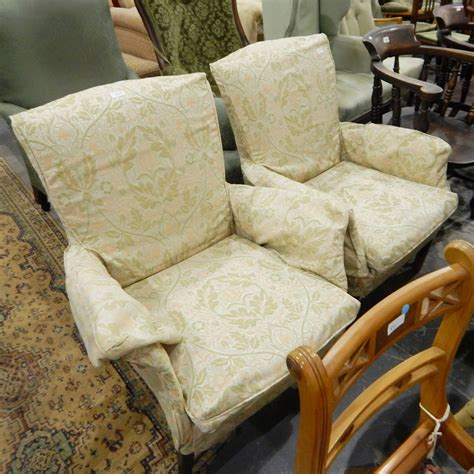 loose covers for armchairs pair of parker knoll upholstered armchairs with fitted
