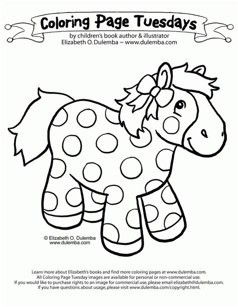 Coloring Page Tuesdays by Dulemba Coloring Page Tuesday Pretty Pony Az Coloring