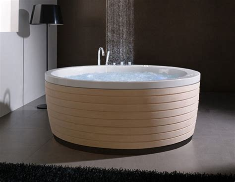 round bathtub round acrylic bathtub with a cool skirt soleil by