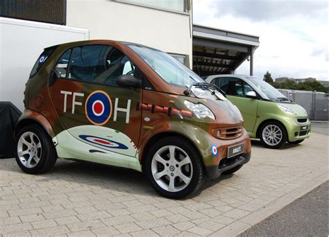 smart fortwo with spitfire paint scheme