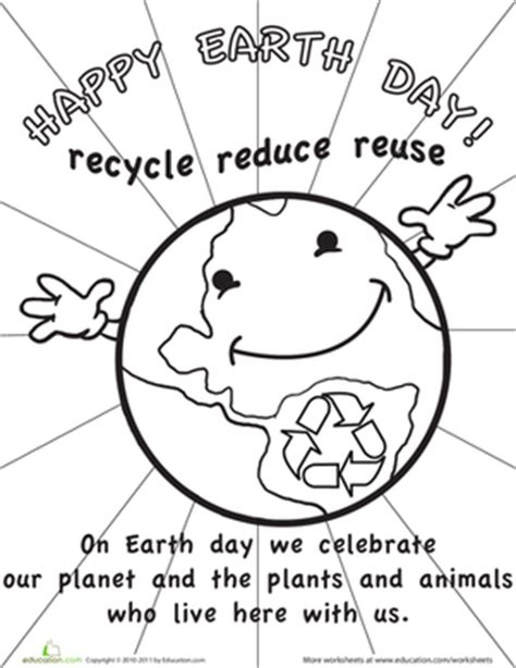 coloring sheets earth day printables best photos of earth day printable worksheets day earth