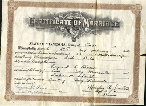 Cass County Marriage Records Cass County