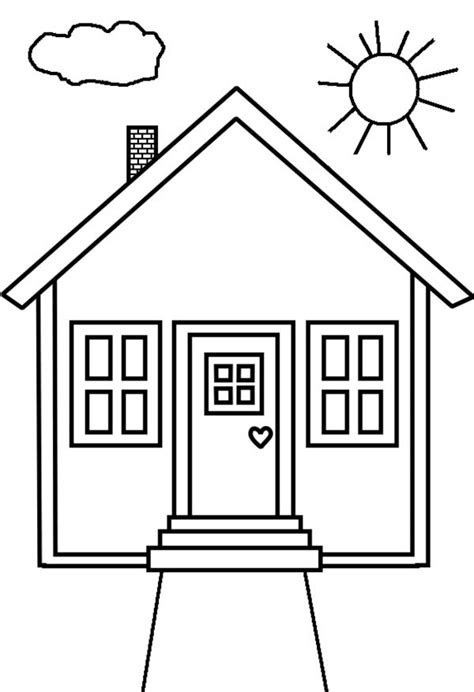 how to color a house kid drawing of house in houses coloring page netart