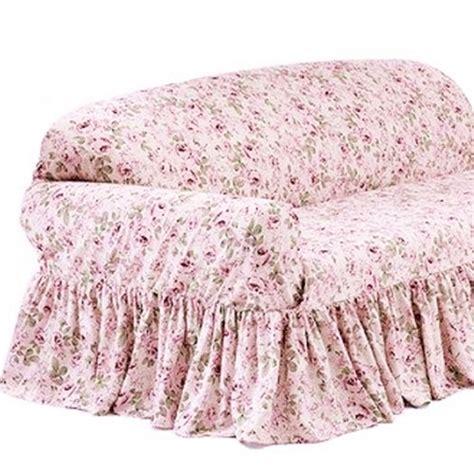 Rachel Ashwell Loveseat Slipcover Rosalie Pink Floral Simply Shabby Chic Slipcovers