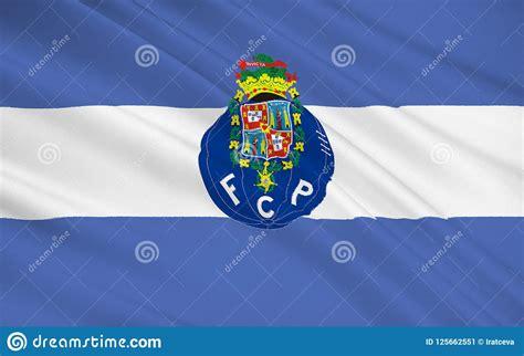 porto football club flag football club porto portugal stock image image of