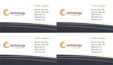 it consultant business card template consultant business card