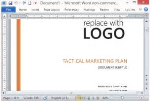 marketing plan template word free free marketing strategy template for word