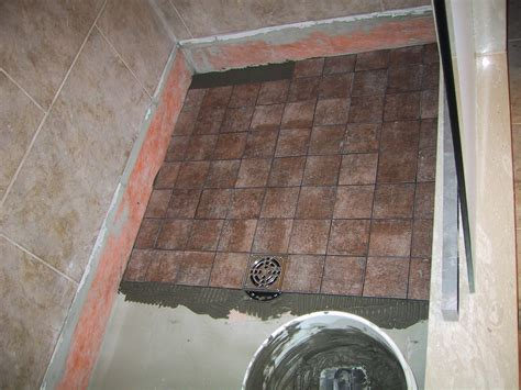 how to tile a bathroom floor how to tile a shower