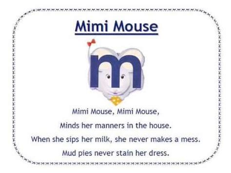 Mimi In Letters by Alphafriends Mimi Mouse
