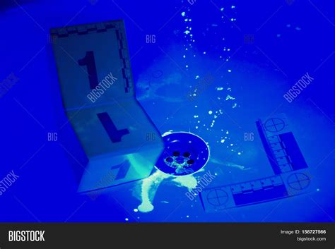 Bathroom Uv Light Bathroom Uv Light Collecting Evidences Uv Light Image Photo Bigstock