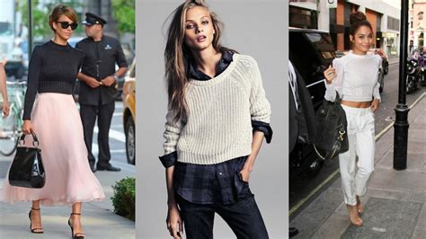 what to wear to sweater fall inspiration wearing a cropped sweater my fashion