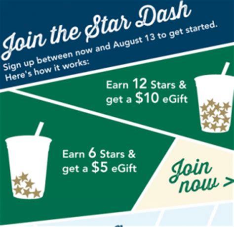 Can You Earn Starbucks Stars Buying Gift Cards - starbucks star dash earn free egift