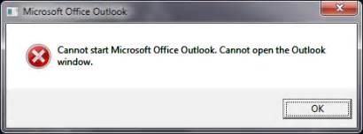Cannot Start Microsoft Office Outlook Cannot Open The Outlook Window cannot start microsoft office outlook cannot open the