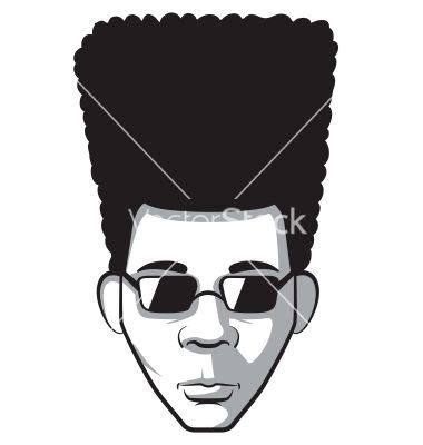 afro hairstyles vector afro man vector 1717272 jpg 380 215 400 afro logo pinterest