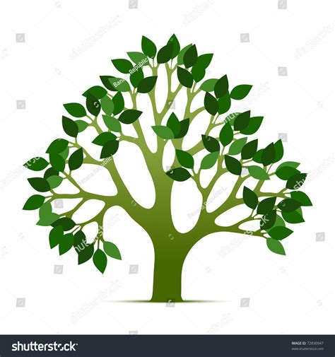 tree symbol tree vector illustration green leafs nature stock vector