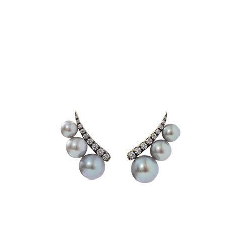 ear climber earrings jemma wynne tahitian pearl ear climber earrings in