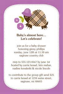 baby shower invitation wording invitation contest design entry burberry turtle baby