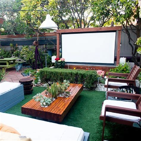 backyard theater backyard movie screen a house is a home when it