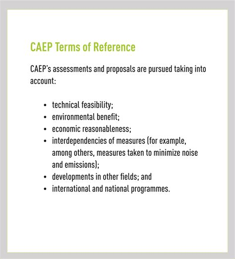 programme board terms of reference template committee on aviation environmental protection caep