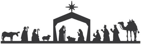 Nuestro Celebracion Del Pesebre Our Bethlehem Party On The Willowson The Willows Nativity Silhouette Template