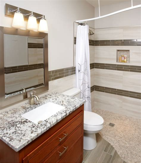 curbless bathroom showers 7 myths about one level curbless showers small baths rooms and bath remodel