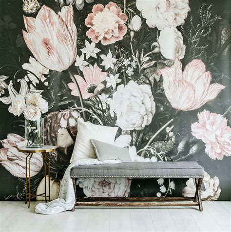 floral wall murals blossoms large wall mural large flowers mural