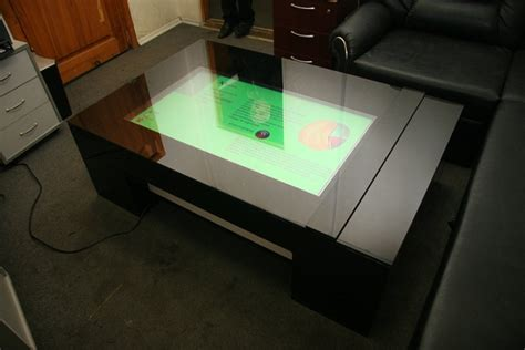 Touch Screen Coffee Table Multitouch Interactive Coffee Table Is A Class Apart With Technological Components Homecrux