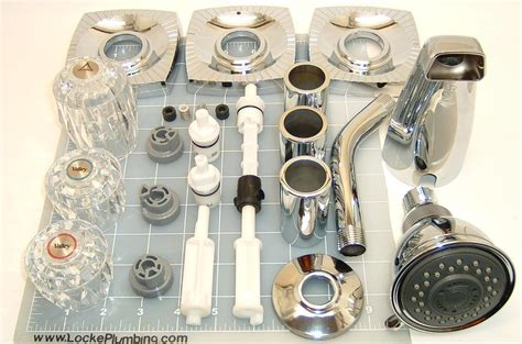 eljer bathtub faucet parts eljer elj 3hcomp three handle tub and shower rebuild kit locke plumbing