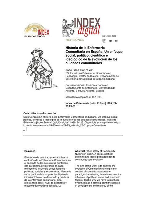 la historia de espaa historia de la enfermer 237 a comunitaria en espa 241 a pdf download available